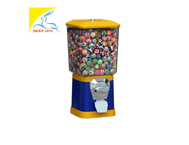Square Blue Gumball Machine 1 - 1.4 Inch Small Size Multifunctional