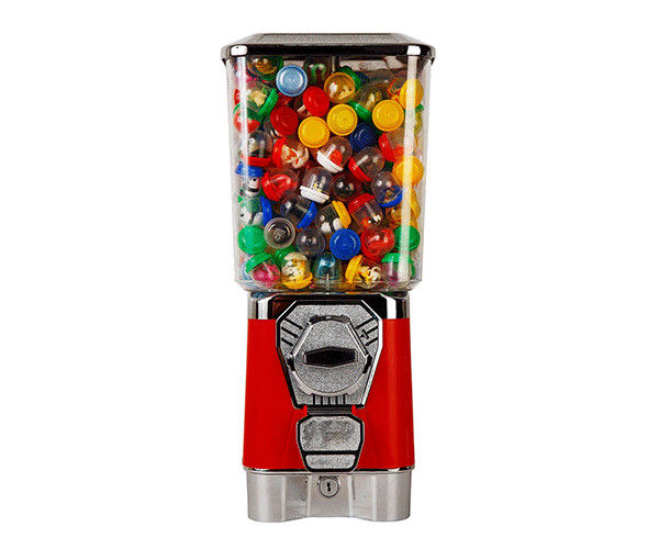1-6 coins Colorful Bulk Candy Machine Mid Size Multifunctional Long Working Life