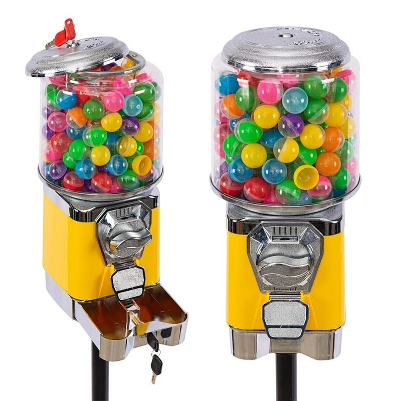 21*21*45CM Stand Up Gumball Machine 3 Types Wheel Long Working Life