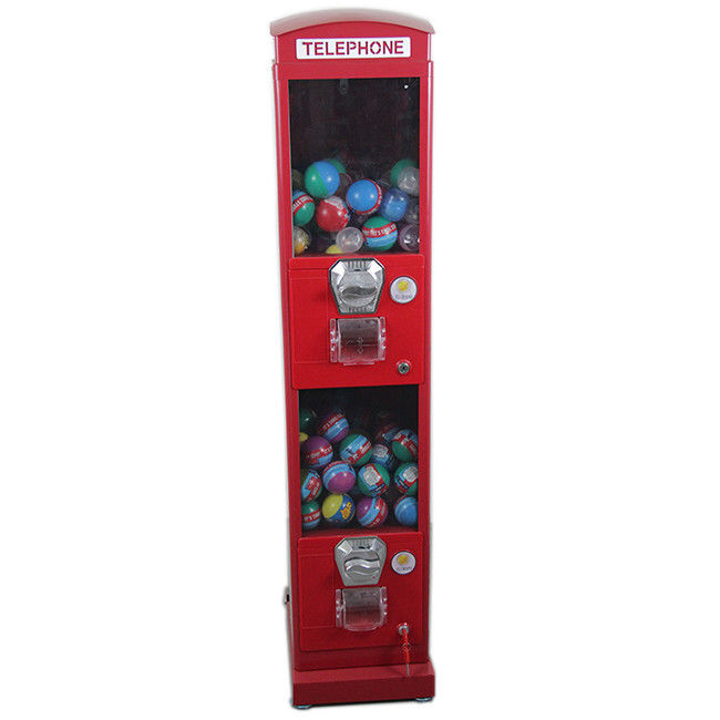 "Coin Operated Classic Suitable for 2''~2.75"" Capsule  Telephone Booth Vending Machine for Shopping Mall"